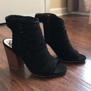 Fergalicious Strapped Black Sandal Heel